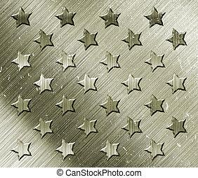 militar, grunge, com, estrelas