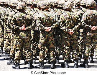 militar, homens
