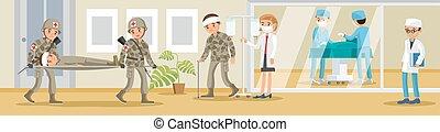 militar, hospitalar, conceito
