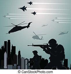 militar, invasión