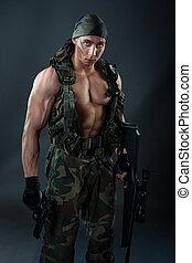 militar, man.