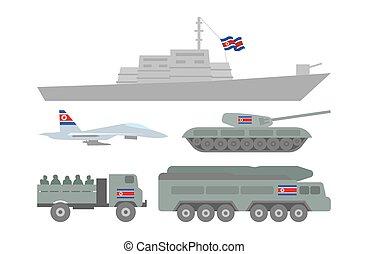 militar, maquinaria, ilustración
