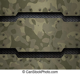 militar, metal, fundo, 3d, ilustração