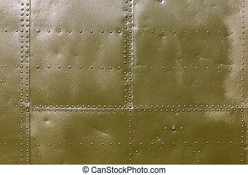 militar, metal verde