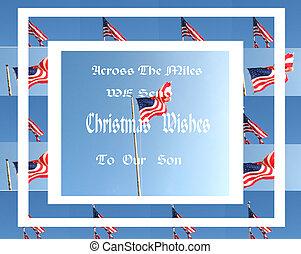militar, navidad, card/flags