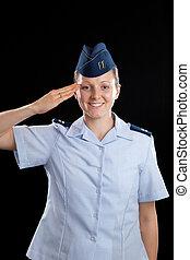 militar, niña