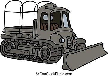 militar, ploughshare, trator