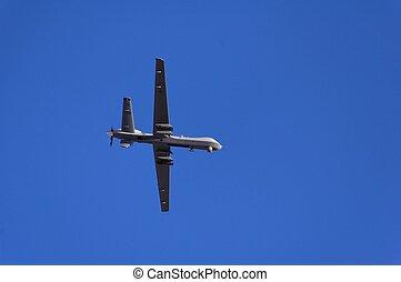 militar, reconocimiento, vuelo, avión, demostración