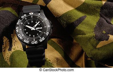 militar, relógio, tritium