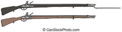 militar, rifles, histórico