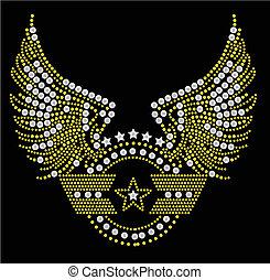 militar, símbolo, artwork