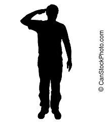 militar, saudação