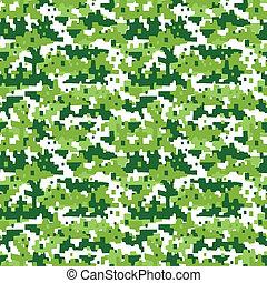militar, -, seamless, camuflagem, fundo