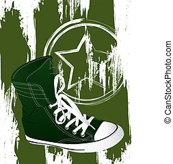 militar, sneakers