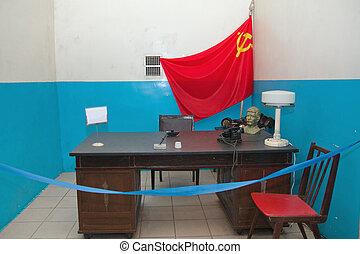 militar, soviético, bunker