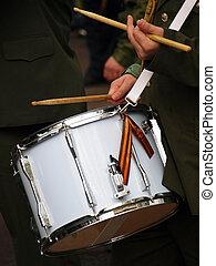 militar, tambor