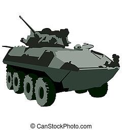 militar, tanque