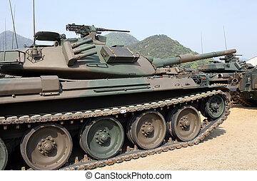 militar, tanque, japoneses