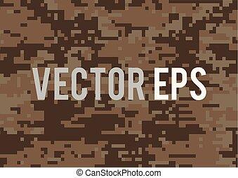 militar, textured, experiência digital, marrom, camuflagem