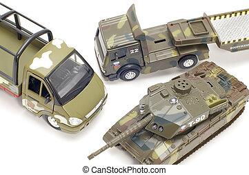 militar, transporte, cima