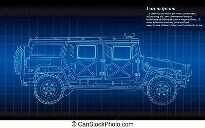 militar, vehicle.eps
