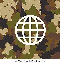 militar, vetorial, seamless, camuflagem, padrão