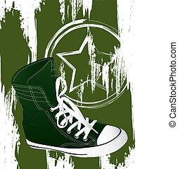 militar, zapatillas