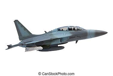 militare, aereo, combattimento, jet