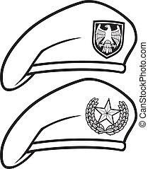 militare, (beret, basco, collection)