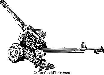 militare, cannone