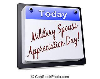 militare, coniuge, giorno, apprezzamento