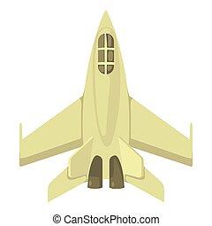 Icona militare stile cartone animato jet. web jet