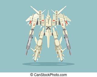 militare, robot, trasformatore