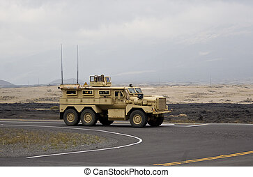 Military 6x6 driving