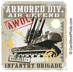 Military vector for T-shirt printed and poster