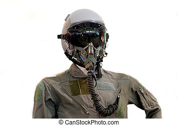 military air force aviation helmet with uniform...