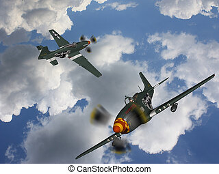 Military Aircraft Bomber - 3d render of a military aircraft ...