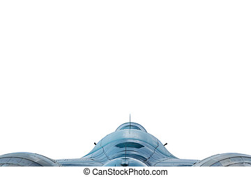 Military aircraft isolated