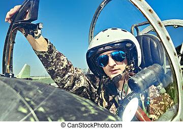 military aircraft pilot