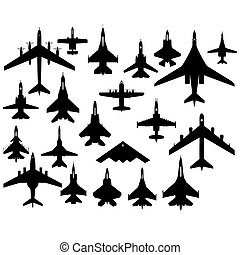 Military aircraft - The contours of aircraft military...