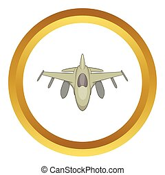 Military aircraft vector icon