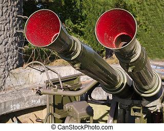 Military anti aircraft gun