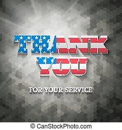 Military appreciation sign