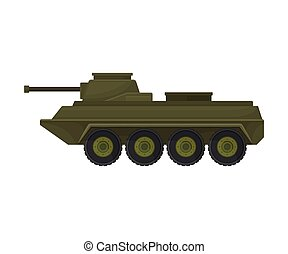 Military armored personnel carrier. Vector illustration on a white background.