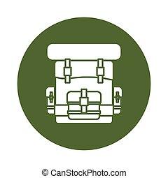 Military army badge bagpack icon image