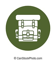 Military army badge bagpack icon image