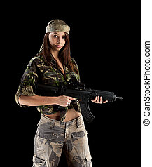 Military Army girl