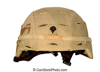 Military-Army Helmet 1 - Real U.S. Army helmet with chin...