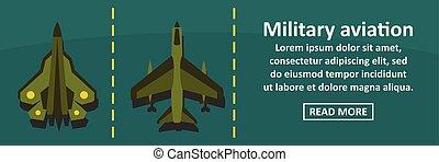 Military aviation banner horizontal concept
