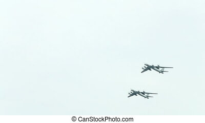 Military aviation of the Russian Federation. Two bombers....